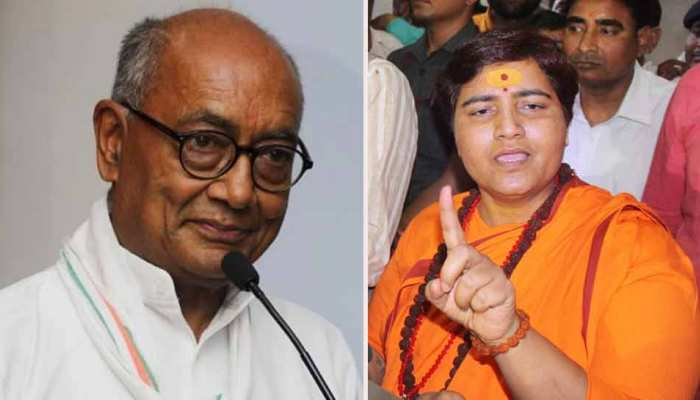 Bhopal Lok Sahba Seat : Tough fight between Pragya Thakur and Digvijay singh