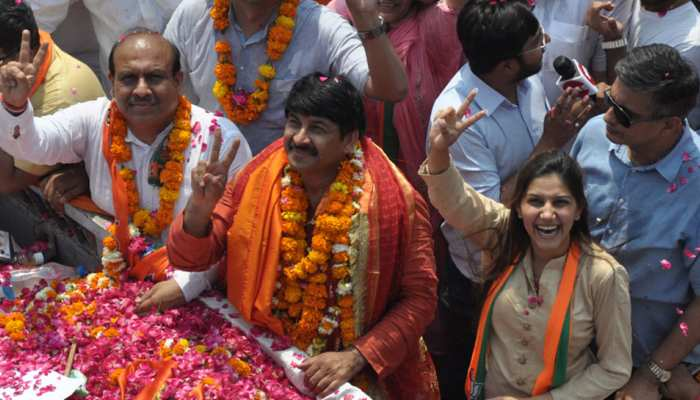 Sapna Chaudhary campaigning Manoj Tiwari, said - I have not joined BJP