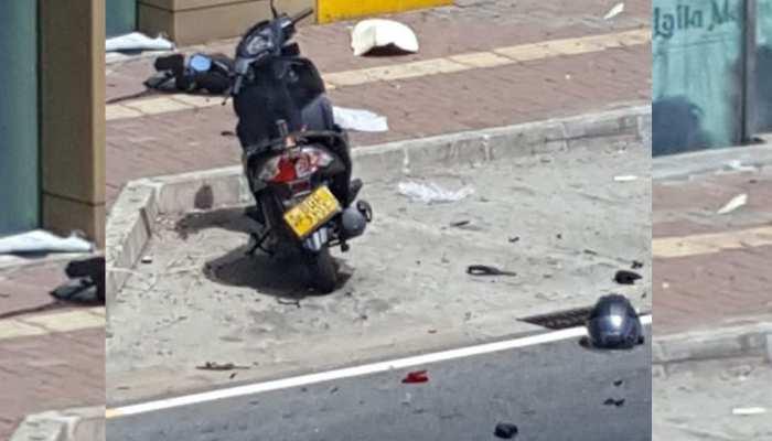 श्रीलंका : सिनेमाघर के पास खड़ी थी संदिग्ध मोटरसाइकिल, पुलिस ने नियंत्रित विस्फोट से उड़ाया