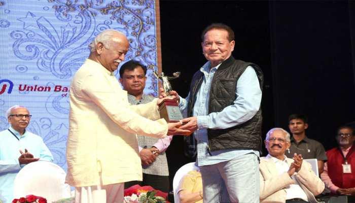 सलमान खान के पिता सलीम खान को आरएसएस प्रमुख मोहन भागवत ने दिया यह बड़ा सम्मान
