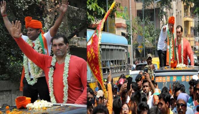 BJP के लिए प्रचार करने उतरे 'द ग्रेट खली, अपने 'खास दोस्त' के लिए मांगे वोट