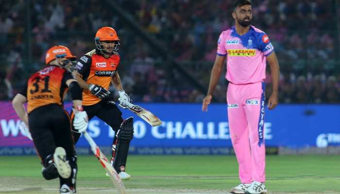 VIDEO: यकीन नहीं होता, हैदराबाद की पारी में मुश्किल से लगा एक ही छक्का, वह भी आखिरी गेंद पर