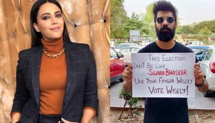 मुंबई वोटर्स ने किया स्वरा भास्कर को TROLL, पोस्टर्स पर लिखा 'उंगली का सही इस्तेमाल करें'