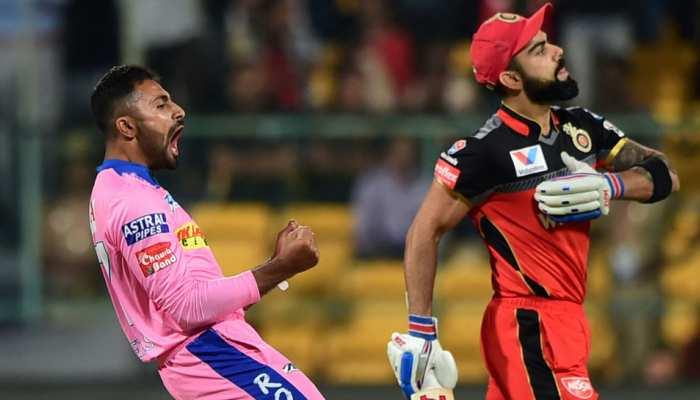 IPL-12: बारिश के बाद शुरू हुआ मैच, बेंगलुरु ने राजस्थान को दिया 63 रन का टारगेट