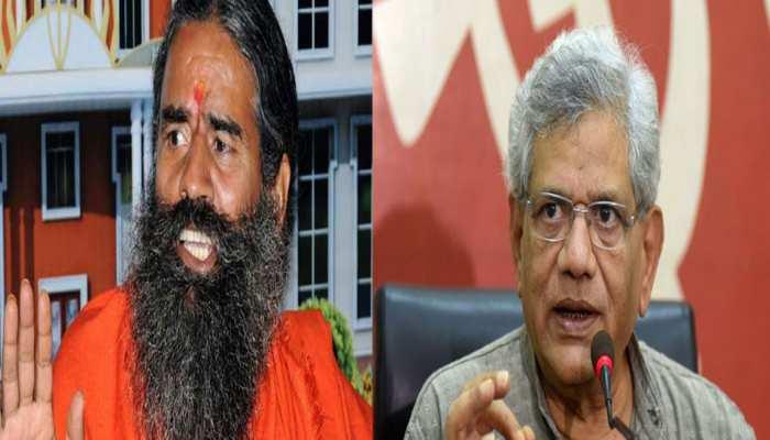 सीताराम येचुरी के बयान पर भड़के रामदेव, पुलिस में दर्ज कराई शिकायत