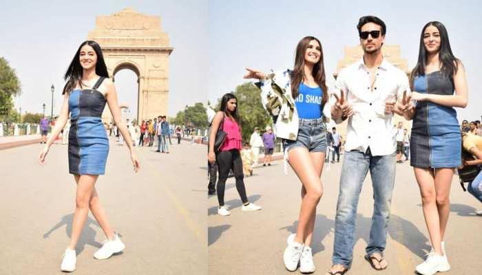 SOTY 2 actors Tiger Shroff, Ananya Panday & Tara Sutaria in Delhi for promotion