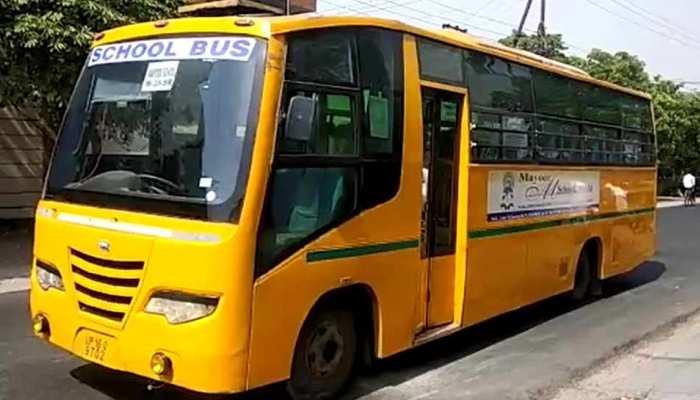 शॉर्ट सर्किट से स्कूल की बस में भरा धुआं, ड्राइवर की सूझबूझ से बड़ा हादसा टला