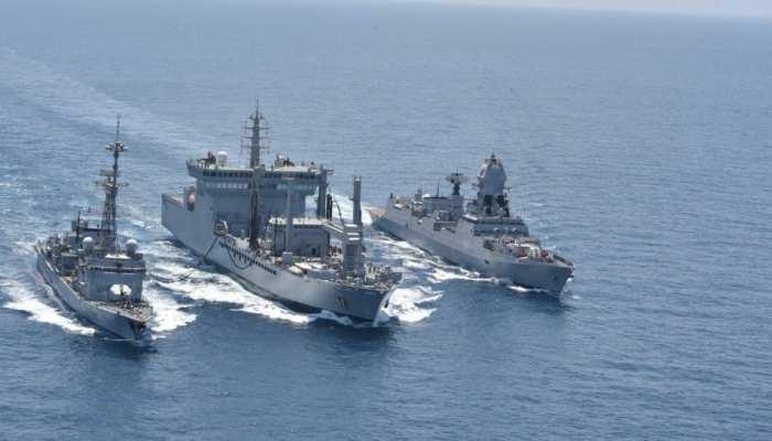 indo french navies begin sea phase varuna 2019 exercise