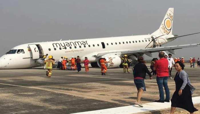 VIDEO: अगले पहिये के बगैर पायलट ने की इमरजेंसी लैंडिंग, 89 लोगों की बचाई जान