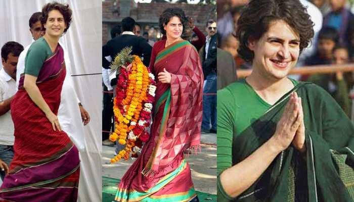 प्रियंका गांधी की साड़ियां इसलिए हैं इतनी खास, जयललिता के बाद फेमस हुआ ये लुक...