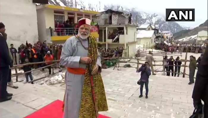 Prime Minister Narendra Modi at Kedarnath temple in Uttarakhand
