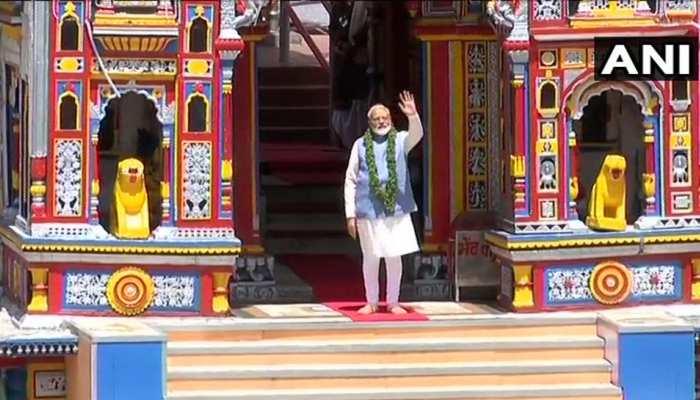 PM मोदी ने केदारनाथ के बाद बद्रीनाथ मंदिर में की पूजा, चुनाव आयोग का जताया आभार