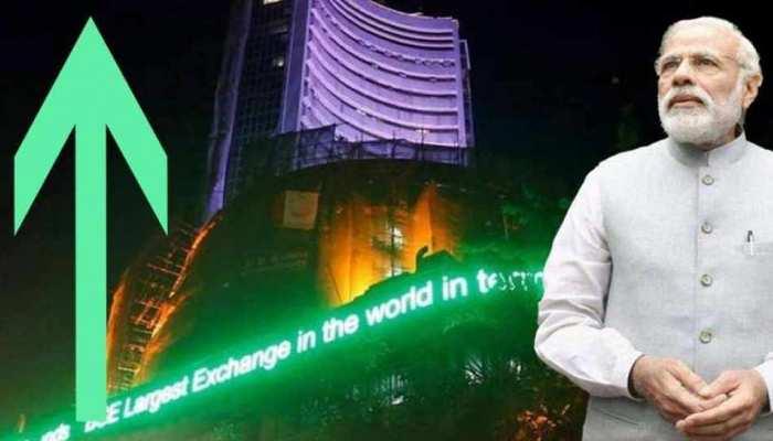 एक्जिट पोल के आंकड़ों से शेयर बाजार गुलजार, सेंसेक्स ने लगाई 800 अंक की छलांग