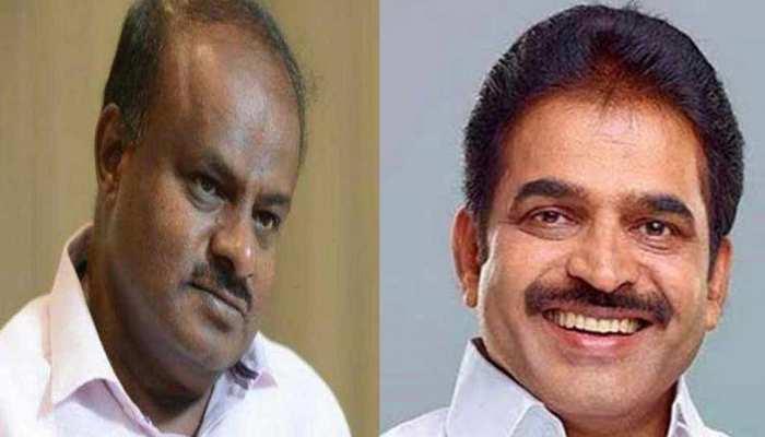 कर्नाटक के सीएम कुमारस्वामी से मिलने पहुंचे कांग्रेस महासचिव वेणुगोपाल