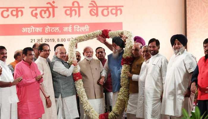 Amit shah, Narendra modi meeting with NDA leaders in New delhi before lok sabha elections result