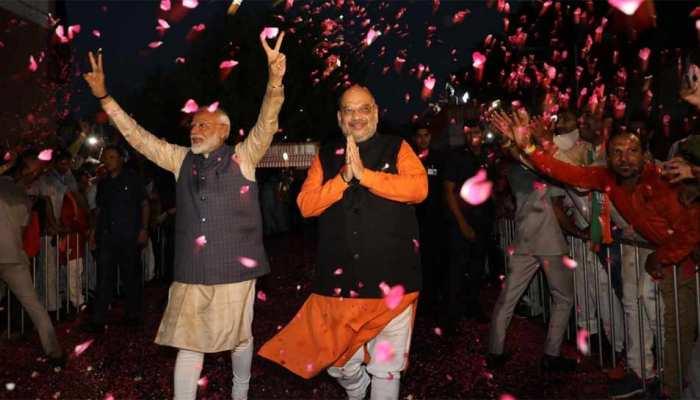 लोकसभा चुनाव परिणाम 2019, देशभर में बीजेपी की प्रचंड जीत, जीत का आंकड़ा 300 के पार