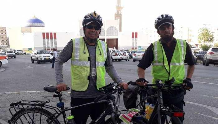साइकिल से दो भारतीय जा रहे हैं मक्का, रोजे में भी जारी है सफर, पहुंचने में लगेगा इतना टाइम