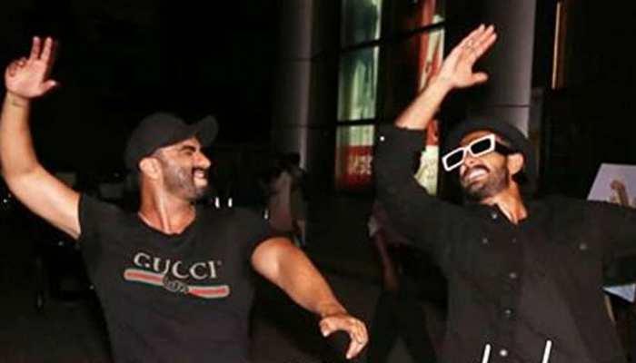 Viral Video : 'इंडियाज मोस्ट वांटेड' की स्क्रीनिंग पर अर्जुन के साथ जमकर नाचे रणवीर