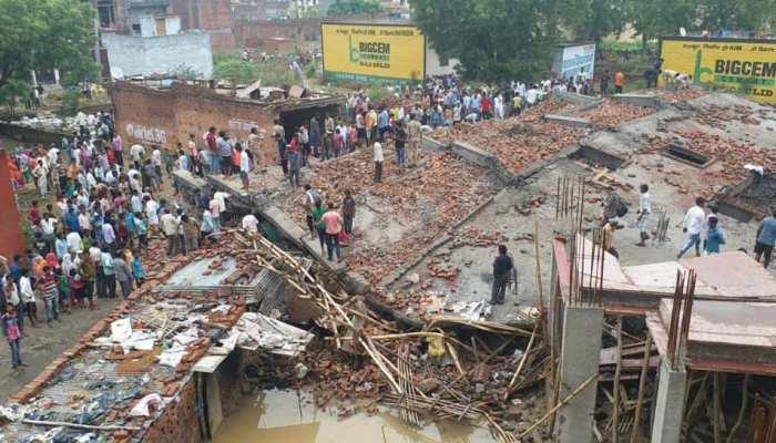 गाजियाबाद : जिला प्रशासन की बड़ी कार्रवाई, अर्थला झील के किनारे कई मकानों को गिराया गया