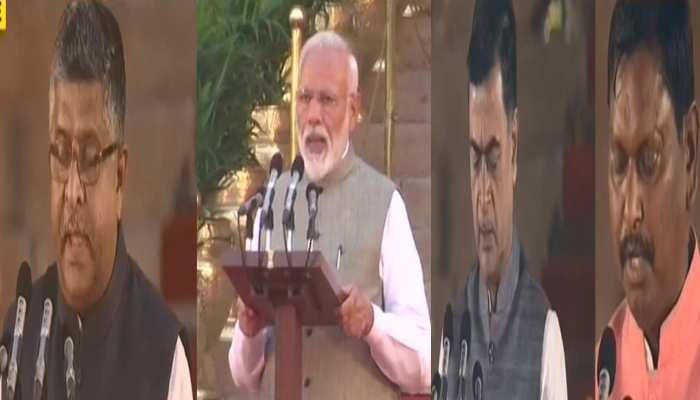 five mp from bihar and one form jhakhand take oath as modi cabinet minister
