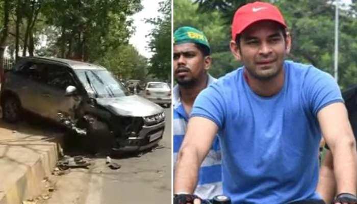 बिहार : सड़क दुर्घटना में बाल-बाल बचे तेजप्रताप यादव, पांव में लगी है गहरी चोट