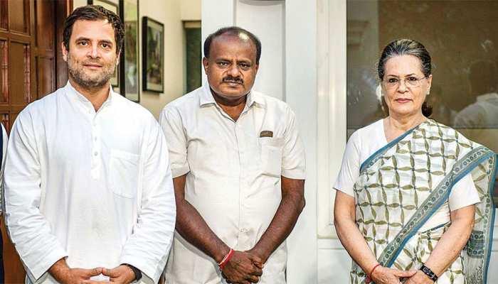 कांग्रेस संसदीय दल का नेता चुने जाने पर सोनिया गांधी को कुमारस्वामी ने दी बधाई