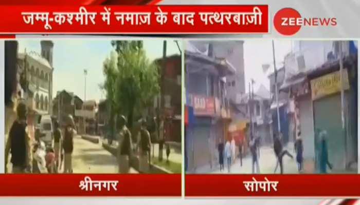 ईद के दिन भी कश्मीर अशांत, नमाज के बाद लोगों ने मसूद अजहर के बैनर लेकर किया प्रदर्शन, सुरक्षा बलों से झड़प