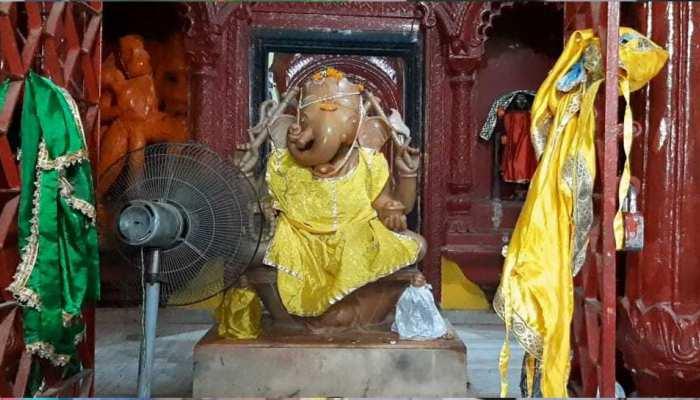 बिहार की गर्मी से भगवान गणपति के भी छूटे पसीने, लगाया गया पंखा, जानें क्या है माजरा