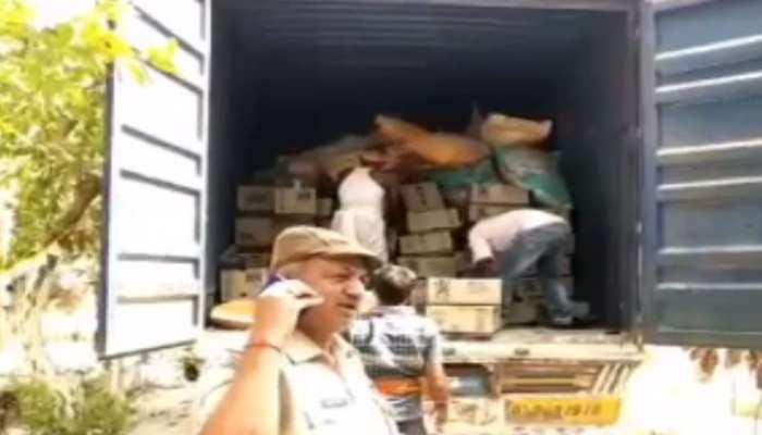 यूपी से शराब का कंटेनर बिहार पहुंचा, बेगूसराय में पुलिस ने किया जब्त