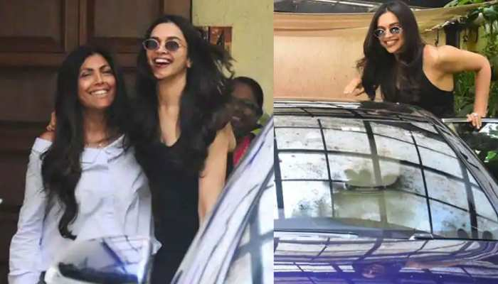 Chhapaak actress Deepika Padukone spotted outside a salon view pictures