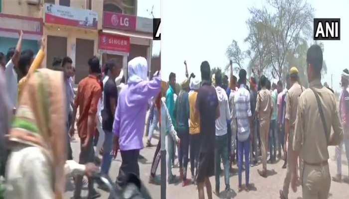 बच्ची हत्याकांड पर अलीगढ़ में फूटा लोगों का गुस्सा, प्रदर्शन कर मांग रहे इंसाफ, पुलिस फोर्स तैनात