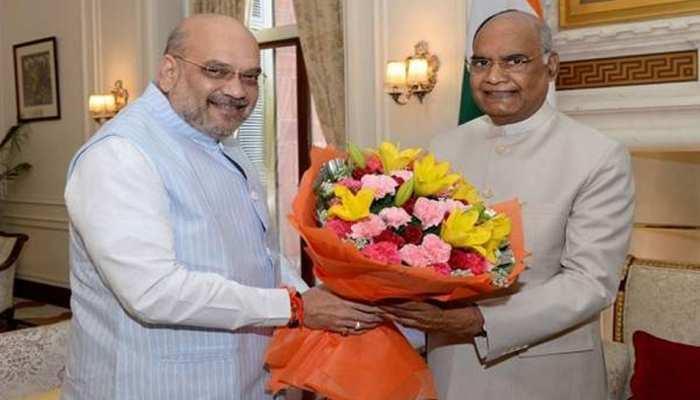 बतौर गृहमंत्री पहली बार राष्ट्रपति कोविंद से मिले शाह, ट्विटर पर लिखा भावुक मैसेज