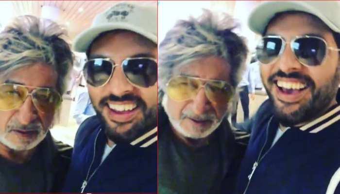 Video: एयरपोर्ट पर युवराज सिंह से टकरा गए शक्ति कपूर, फेमस डायलॉग हुआ वायरल
