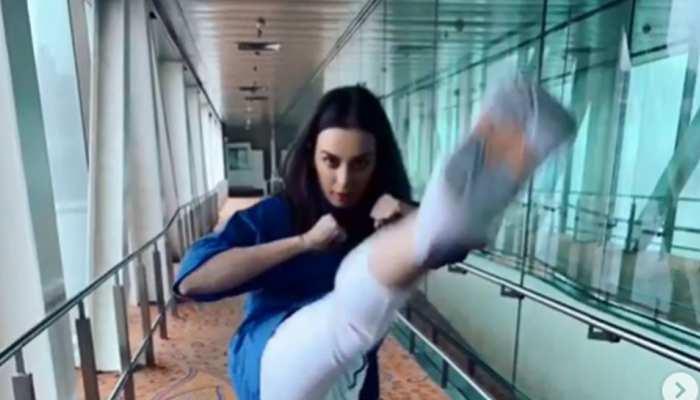 Saaho Teaser: 'साहो' की एक्ट्रेस एयरपोर्ट पर ही दिखाने लगी स्टंट, VIDEO VIRAL