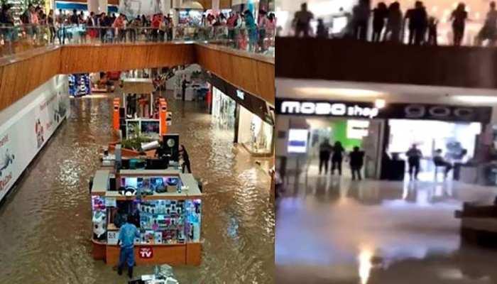 VIDEO: मॉल में अचानक होने लगी बारिश, सोशल मीडिया लोगों ने दिए ऐसे रिएक्शन