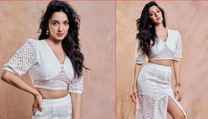 Kiara Advani Photos in White Crop Top and Skirt look from promotional event goes viral