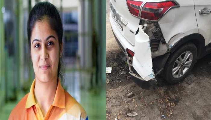 महिला शूटर मनु भाकर की गाड़ी को टक्कर मारने वाला बस चालक हुआ निलंबित