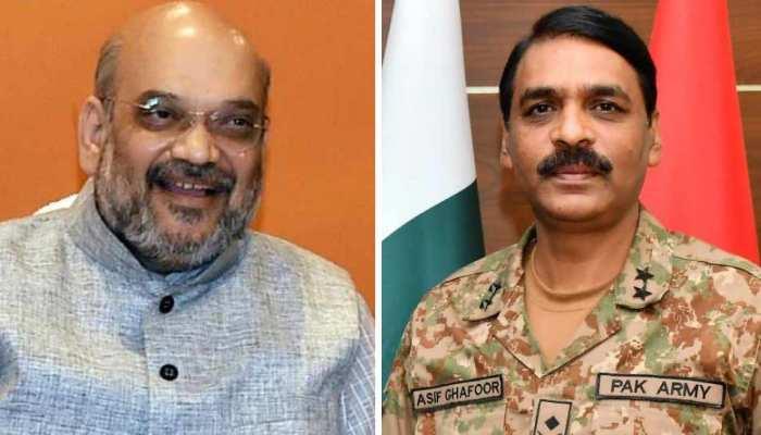 अमित शाह के ट्वीट पर पाकिस्तानी सेना के प्रवक्ता का बयान, कहा- स्ट्राइक और मैच की तुलना न करें