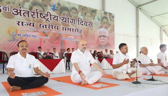 अंतरराष्ट्रीय योग दिवस: गृह मंत्री अमित शाह बोले, 'योग दुनिया भर में भारत की संस्कृति का दूत बन गया है'