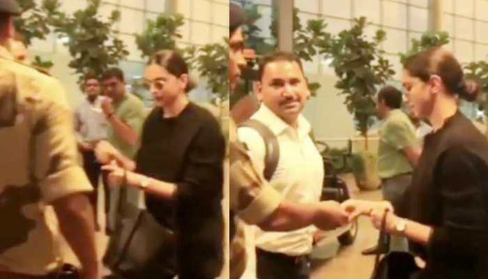 VIRAL VIDEO: एयरपोर्ट पर सुरक्षाकर्मी ने दीपिका पादुकोण को आवाज लगाकर कहा- 'आईडी मैडम'