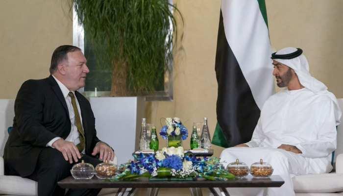 अबु धाबी के क्राउन प्रिंस ने किया अमेरिका के विदेश मंत्री का स्वागत