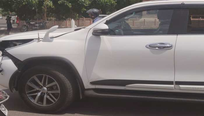 जोधपुर: वसुंधरा राजे के काफिले की गाड़ी दुर्घटनाग्रस्त, बाल बाल बचे