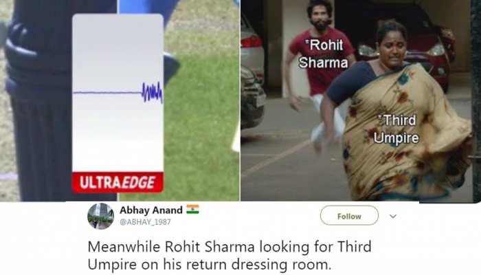 VIDEO: रोहित शर्मा के विकेट पर बवाल, थर्ड अंपायर का जमकर उड़ रहा मजाक