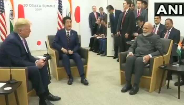 भारत-जापान-अमेरिका के बीच हुई त्रिस्तरीय बैठक, PM मोदी बोले, 'हमारा मंत्र सबका साथ, सबका विकास'