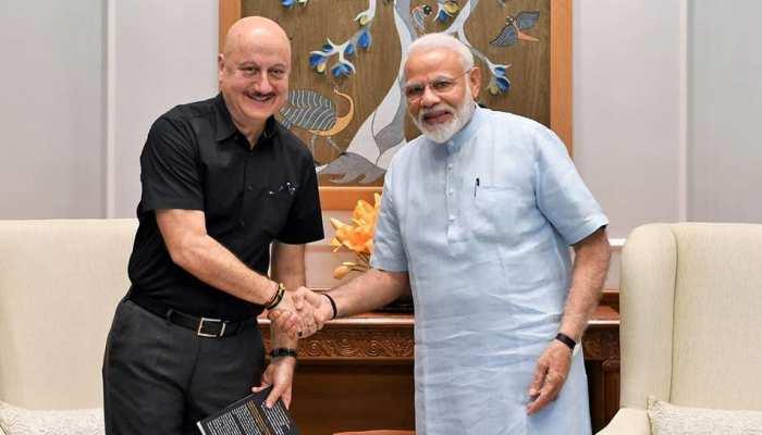 PM मोदी से अनुपम खेर ने की मुलाकात, बोले- 'प्रधानमंत्री से मिलना सौभाग्य की बात'