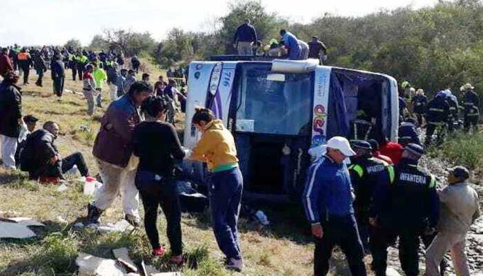 अर्जेटीना में बस दुर्घटना में 13 की मौत, 30 अन्य घायल