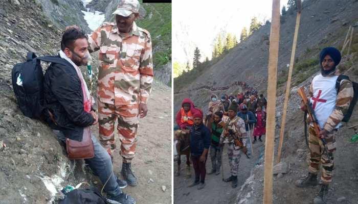 अमरनाथ यात्रा : शिवभक्तों के लिए ढाल बनकर खड़े हैं ITBP जवान, लोग कर रहे हैं सराहना