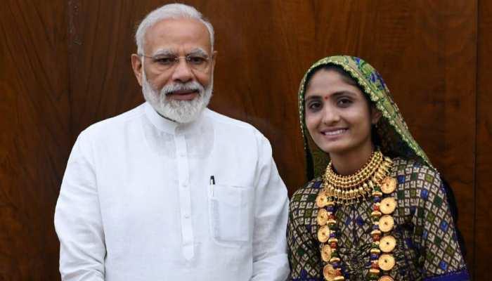 GUJARAT-FOLK Singer Geeta Rabbani got the Prime Minister Narendra Modi in sansad