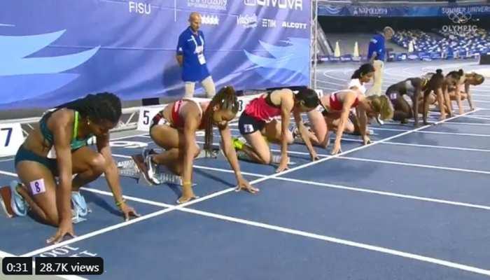 VIDEO: इतनी तेज दौड़ीं फर्राटा धाविका दुती चंद, रेस देखकर खेल मंत्री भी रह गए दंग