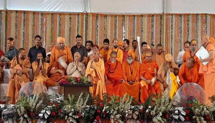 हरिद्वार: स्वामी सत्यमित्रानंद की श्रद्धांजलि सभा में संतों ने दौहराया गौ-गंगा-राम मंदिर का संकल्प